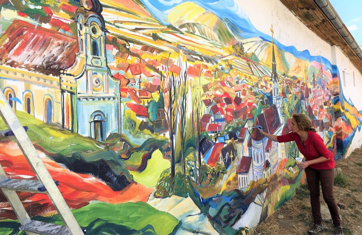 Mural Tri krsta Tereza Stamenkovic